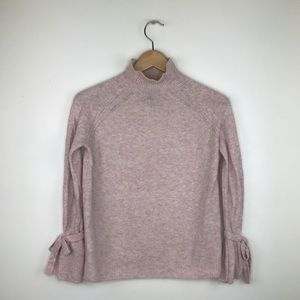 Cynthia Rowley light pink sweater with tie sleeves